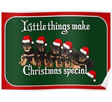 Little Things Make Christmas Special Vector Poster