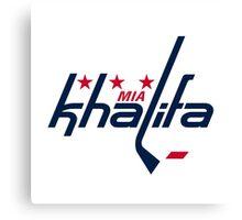 Mia Khalifa Caps Logo Canvas Print