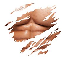 Ripped T shirt with Abs  Photographic Print