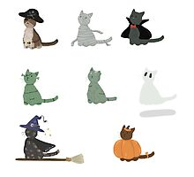 Halloween Kitties Photographic Print