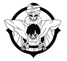 Skeleton Gohan & Piccolo by neidleth