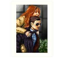Karen Gillan and Matt Smith Art Print