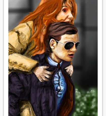 Karen Gillan and Matt Smith Sticker
