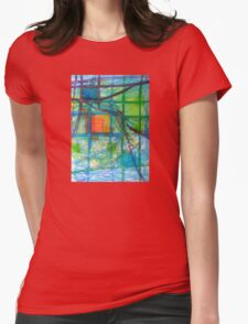 Captured Squares Womens Fitted T-Shirt