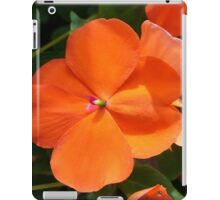 Vivid Orange Vermillion Impatiens Flower iPad Case/Skin