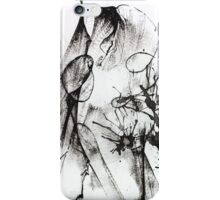 Black and white abstract composition iPhone Case/Skin