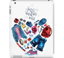 fashion illustration. heart of clothes. painted in watercolor iPad Case/Skin