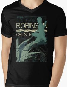 Books Collection: Robinson Crusoe Mens V-Neck T-Shirt