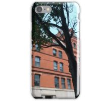 Red Brick Building and Green Maple Tree iPhone Case/Skin