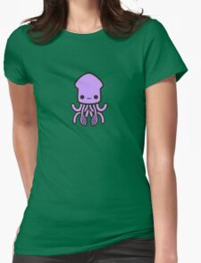Cute purple squid Womens Fitted T-Shirt