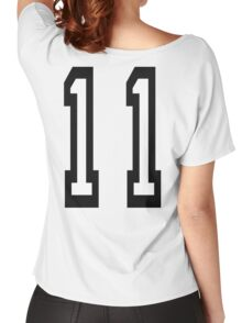 11, TEAM SPORTS, NUMBER 11, Eleven, Eleventh, Competition Women's Relaxed Fit T-Shirt