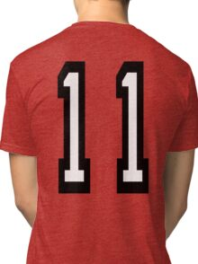 11, TEAM SPORTS, NUMBER 11, Eleven, Eleventh, Competition Tri-blend T-Shirt