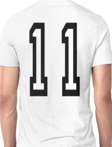 11, TEAM SPORTS, NUMBER 11, Eleven, Eleventh, Competition Unisex T-Shirt