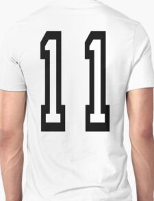11, TEAM SPORTS, NUMBER 11, Eleven, Eleventh, Competition T-Shirt