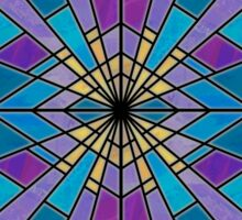 Stain Glass Ray Blue and Purple  Sticker