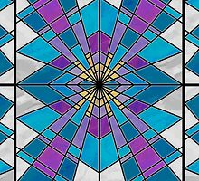 Stain Glass Ray Blue and Purple  by ImagineThatNYC