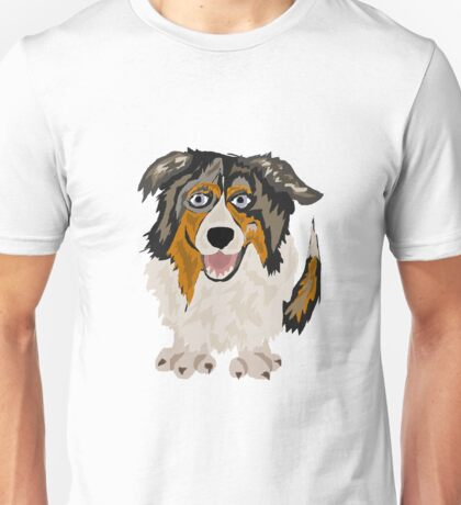 Funny Cool Australian Shepherd Dog Art Unisex T-Shirt