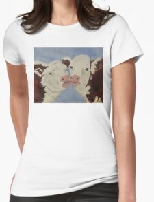 Cozy Cows Womens Fitted T-Shirt