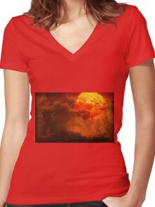 Heart of Deep Darkness - Earthbound / Mother 2 / Apocalypse Now / Heart of Darkness Women's Fitted V-Neck T-Shirt