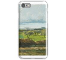 Gustave Courbet (French, ), Landscape with Wall and Orchard iPhone Case/Skin