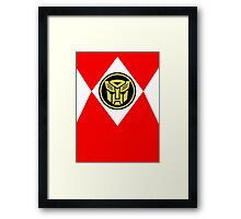 Mighty Morphin Autobot Rangers Framed Print