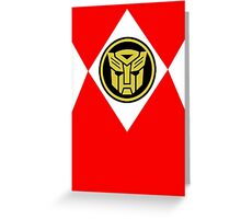 Mighty Morphin Autobot Rangers Greeting Card