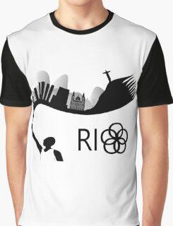 Rio de Janeiro skyline looks like torch flames Graphic T-Shirt