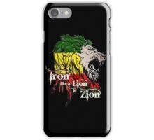 Reggae Rasta Iron, Lion, Zion 5 iPhone Case/Skin