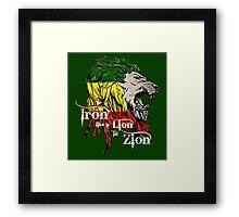 Reggae Rasta Iron, Lion, Zion 5 Framed Print