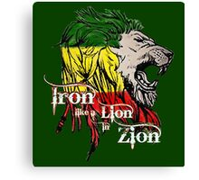Reggae Rasta Iron, Lion, Zion 5 Canvas Print