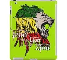 Reggae Rasta Iron, Lion, Zion 5 iPad Case/Skin