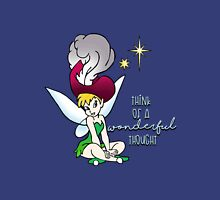 Think of a Wonderful Thought with Tinker bell Unisex T-Shirt
