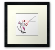 The Mouse with Scissors Framed Print
