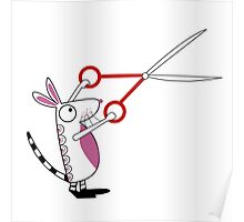 The Mouse with Scissors Poster