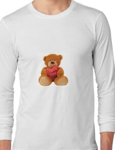Cuddly teddy bear with cushion Long Sleeve T-Shirt
