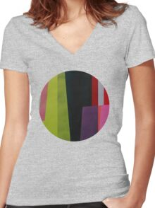 Geometrics#4 Women's Fitted V-Neck T-Shirt
