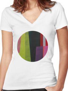 Geometrics#4 Women's Fitted V-Neck T-Shirt