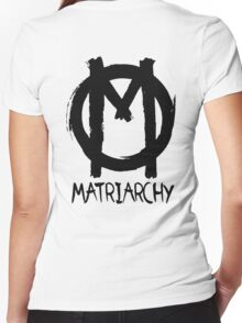 matriarchy Women's Fitted V-Neck T-Shirt