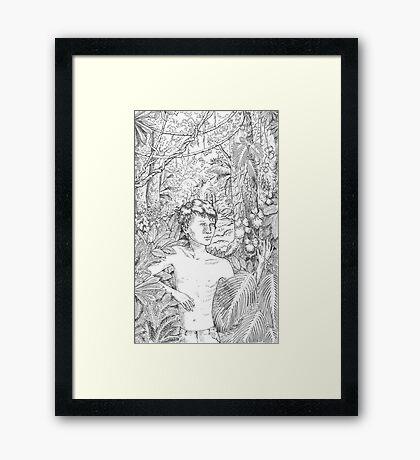 Simon in the Woods Framed Print