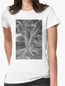 Old Crazy Tree  Womens Fitted T-Shirt
