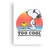"Peanuts ""too cool"" snoopy Canvas Print"