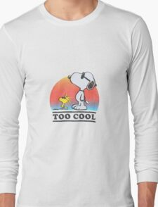 "Peanuts ""too cool"" snoopy Long Sleeve T-Shirt"