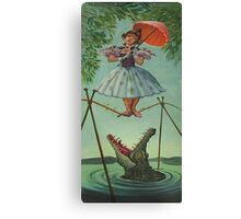 haunted mansion umbrela Canvas Print