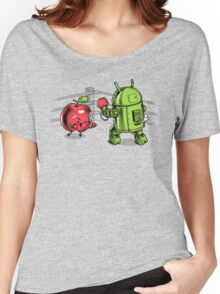 Apple vs Android Women's Relaxed Fit T-Shirt