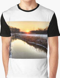 Sunset over the water Graphic T-Shirt
