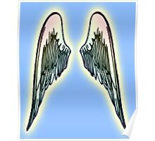 ANGEL, WINGS, Flight, Fly, Angel, Angelic, Angelology, Air Force, Jets Poster