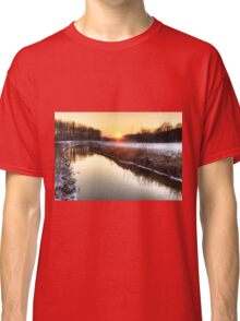 Sunset over the water Classic T-Shirt