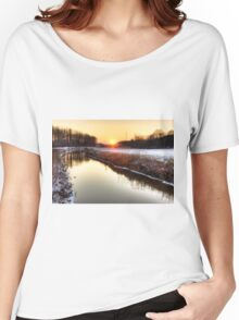 Sunset over the water Women's Relaxed Fit T-Shirt