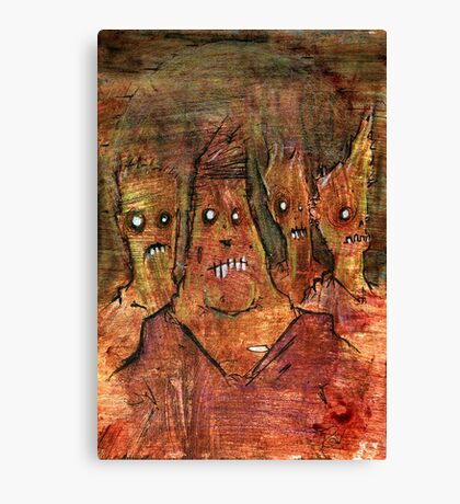 Zombies in a Red Dawn Apocalypse Canvas Print