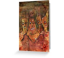 Zombies in a Red Dawn Apocalypse Greeting Card